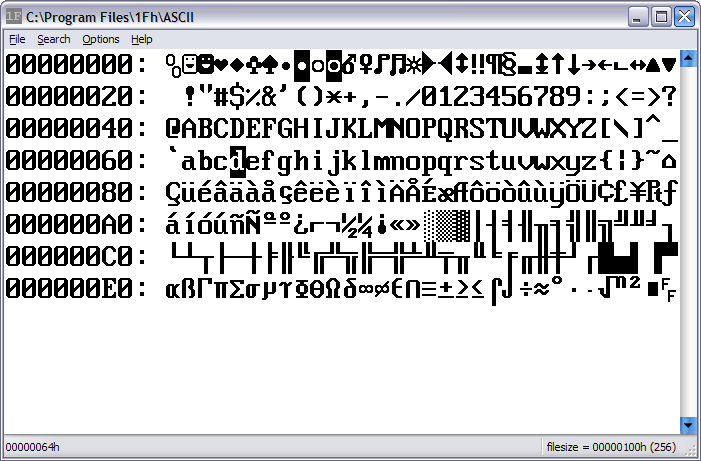 Click to view 1Fh Binary/Hex Editor 1.16 screenshot